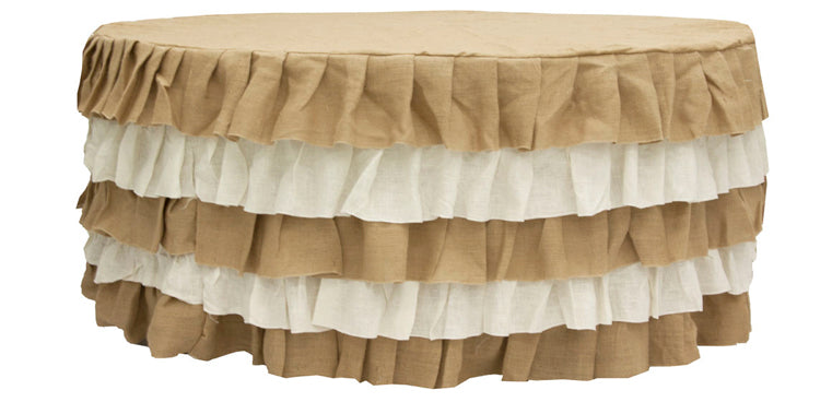 Burlap Skirt Tablecloth