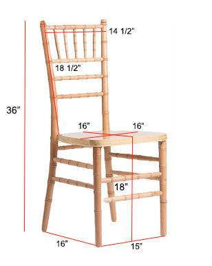 Chiavari Chair Dimensions