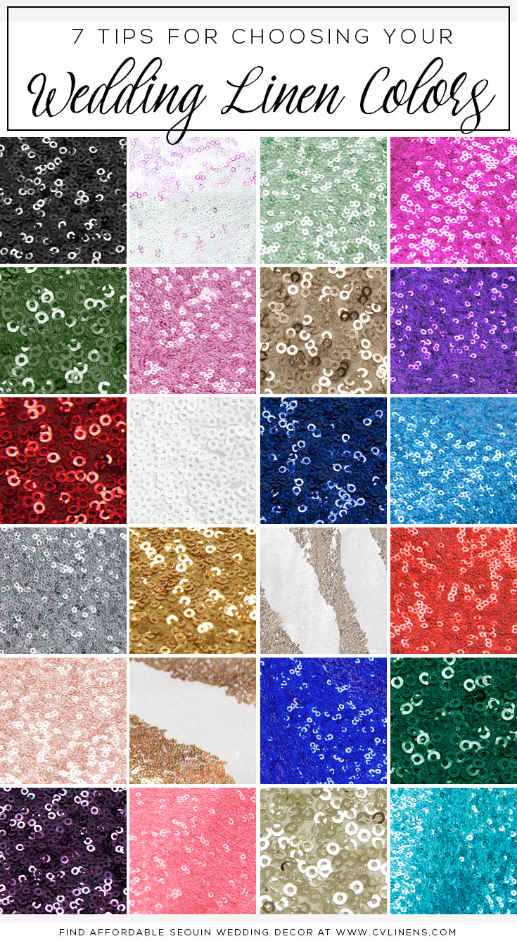 7 Tips for Choosing Table Linen Colors (including sequins)