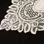 Crochet Lace Table Runner Ivory