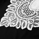 Crochet Lace Table Runner White