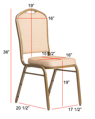 Crown Top Banquet Chair Dimensions