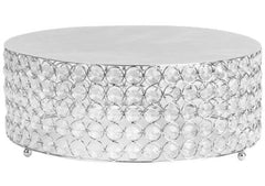 Crystal 14″ Round Cake Stand – Silver plated