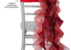 Curly Willow Chair Sash – Apple Red (new design)