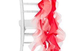 Curly Willow Chair Sash – Red (new design)