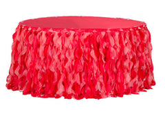 Curly Willow 14ft Table Skirt – Red (new tone)