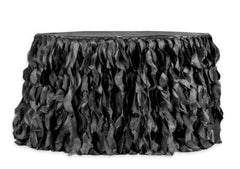 Curly Willow 14ft Table Skirt – Black