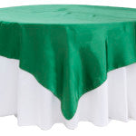 Emerald Satin Table Overlay