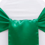 Emerald Satin Wide Chair Sash