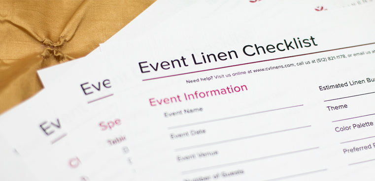 Event Linen Checklist - plan party decor easily