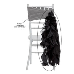 Curly Willow Chair Sash – Black