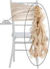 Curly Willow Chair Sash – Champagne (new design)