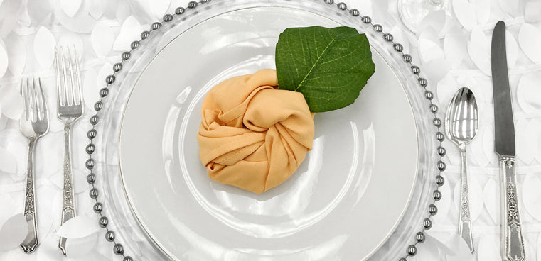 peach wedding linens