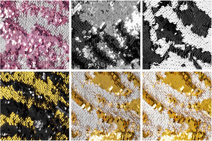 Flip Up Reversible Two Tone Sequins