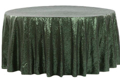 Glitz Sequins 120″ Round Tablecloth – Willow Green