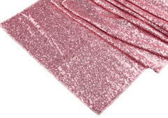 Wide 18″x108″ GLITZ Sequin Table Runner – Pink (Limited Quantity)