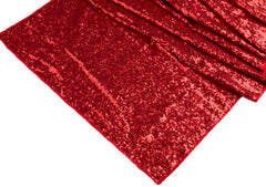 Wide 18″x108″ GLITZ Sequin Table Runner – Red (Limited Quantity)