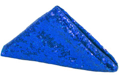 "Glitz Sequin Napkin 20""x20"" - Royal Blue"