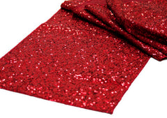 Glitz Sequin Table Runner – Apple Red