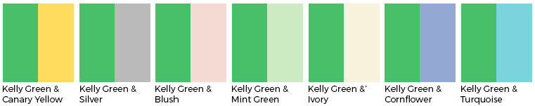 Kelly Green wedding color wedding linens