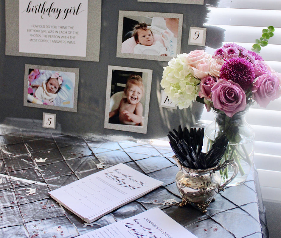 How to First Birthday Party Guest Book Table Decorations Games