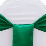 Emerald Satin Chair Sash