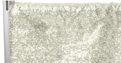 "Glitz Sequin 10ft H x 52"" W Drape/Backdrop panel - Ivory"