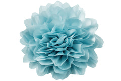Jumbo Taffeta Fabric Flower - Baby Blue