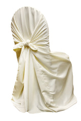 Lamour Universal Self Tie Chair Cover - Ivory