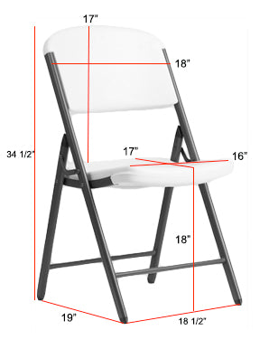 LIFETIME Folding Chair Dimensions