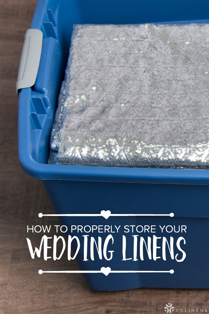 How to Effectively Store Your Wedding and Event Linens