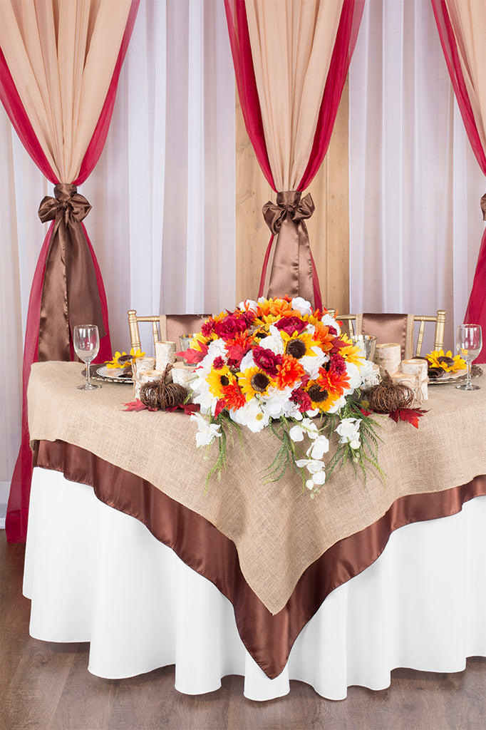 Fall Sweetheart Table overview