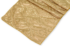 Mermaid Scale Sequin Table Runner - Gold