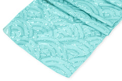Mermaid Scale Sequin Table Runner - Turquoise