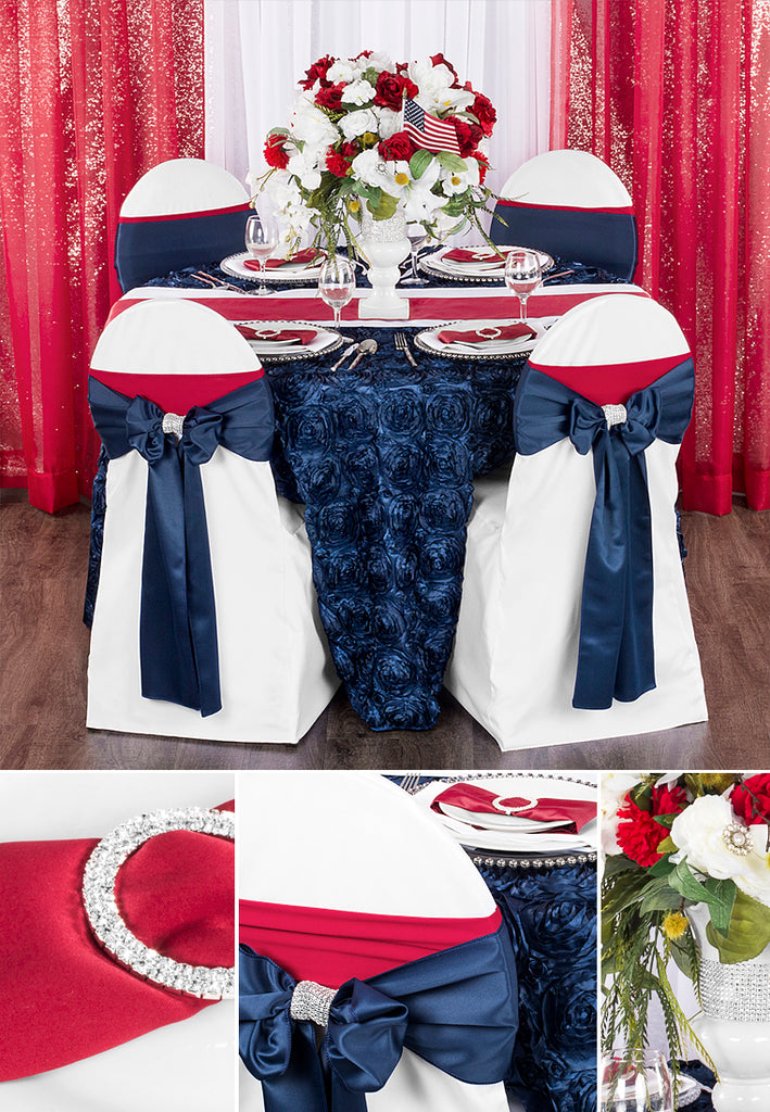 4th of July Wedding Tablescape Set Up