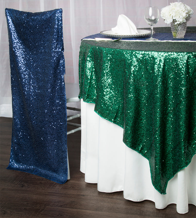 emerald sequins green sequins glitz sequined tablecloths chair covers