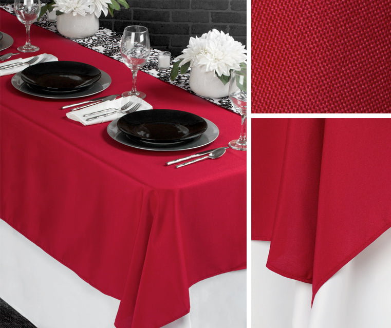 6 ft table cover polyester tablecloth half drop tablecloth