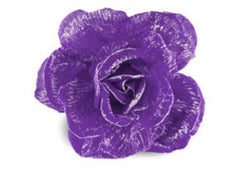 Oversize Rose Flower Decor – Purple