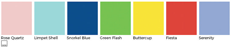 kelly green blush rose quartz canary yellow red turquoise pantone wedding linens