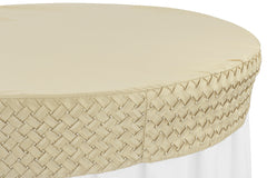 "Pearl Table Cap/Topper 48"" Round - Champagne"