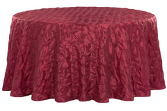 "120"" Pinchwheel Round Tablecloth - Burgundy"