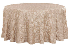 "120"" Pinchwheel Round Tablecloth - Champagne"