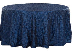 120″ Pinchwheel Round Tablecloth – Navy Blue