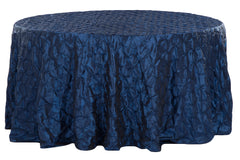 "120"" Pinchwheel Round Tablecloth - Navy Blue"