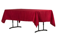 "60""x102"" Rectangular Polyester Tablecloth - Apple Red"