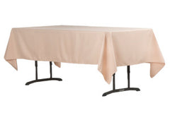 "60""x102"" Rectangular Polyester Tablecloth - Champagne"
