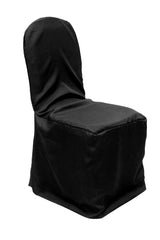 Economy Polyester Banquet Chair Cover - Black