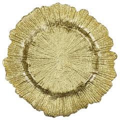 Reef Glass Charger Plate – Gold