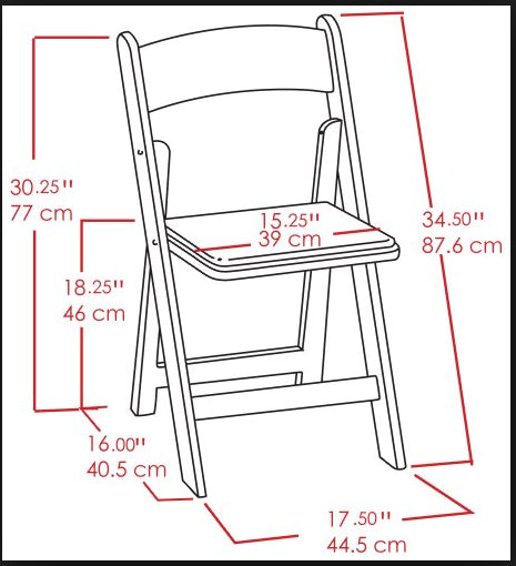 Resin Folding Chair Dimensions