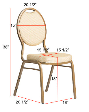 Round Top Banquet Chair Dimensions